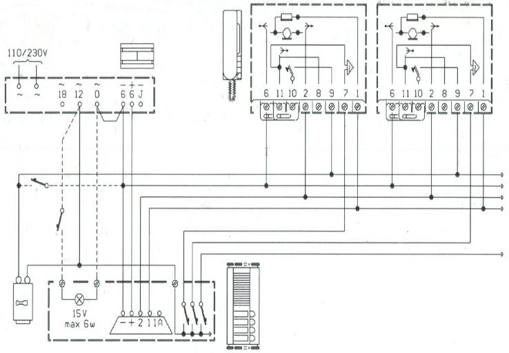 Citofono kit 3 pezzi urmet 1030 usato revisionato ebay for Urmet 1130 12 schema
