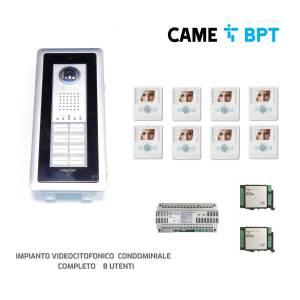 Came Bpt impianto videocitofonico completo 8 utenze THANGRAM8