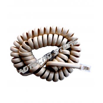 Cordone telefonico spiralato avorio 4 poli