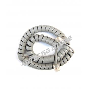 Cordone telefonico spiralato grigio 6 poli