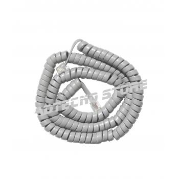 Cordone telefonico spiralato grigio 6 poli m 2