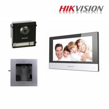 Hikvision Kit Intercom IP monofamiliare espandibile
