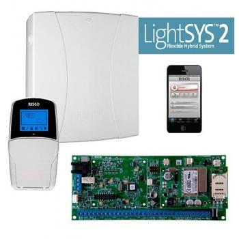 RISCO RP432P000EUC - Kit LighSYS, Centrale + Box + Alimentatore Tastiera LCD