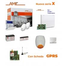 AMC Kit X824GPRS Centrale 8/24 zone+ Tastiera KBLUE e modulo GPRS