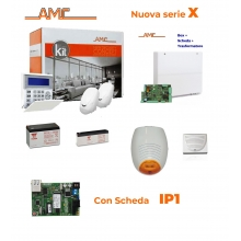 AMC Kit X412IP Centrale 4/16 zone + Tastiera K-blue e modulo IP