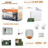 AMC Kit 589 Centrale 8/24 zone con Tastiera Unika e modulo GPRS - IP1