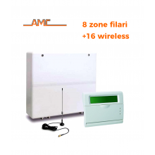 AMC - KIT Centrale antifurto C24GSM plus + KRADIO 8 zone filari+16 Wireless