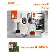 AMC Kit X412GPRS Centrale 4/16 zone + Tastiera Klight e modulo GPRS