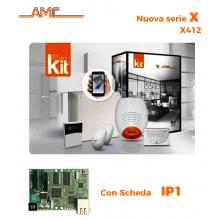 AMC Kit X412IP Centrale 4/16 zone + Tastiera Klight e modulo IP