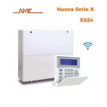 AMC Kit X824 Centrale 8/32 zone esp a 64 + Tastiera Kradio 800