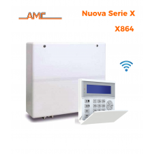 AMC Kit X864 Centrale 8/64 zone esp a 64 + Tastiera Kradio 800