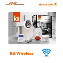 AMC Kit 530WIP Centrale X8/24 zone+ Tastiera Kradio800 modulo IP
