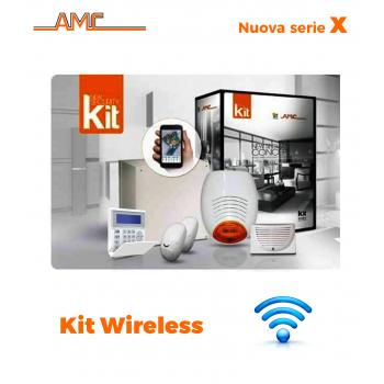 AMC Kit 530WGPRS Centrale X8/24 zone+ Tastiera Kradio800 modulo GPRS