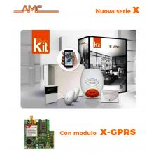 AMC Kit X824GPRS Centrale 8/24 zone+ Tastiera Klight e modulo GPRS