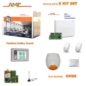 AMC Kit 587 Centrale 8/24 zone con Tastiera Unika e modulo GPRS