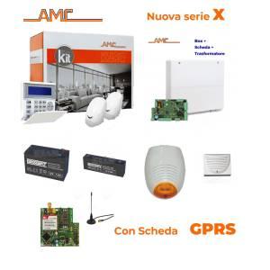 AMC Kit X412GPRS Centrale 4/16 zone + Tastiera KBlue e modulo GPRS
