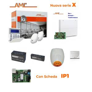 AMC Kit X412IP Centrale 4/16 zone + Tastiera K-blue e modulo IP