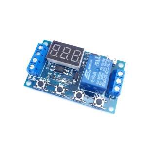 SRD-05VDC-SL-C Modulo Scheda Temporizzatore Timer 5V 12V con 1 relè RELAY e piu' funzioni