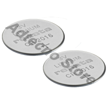 CR 2016 Batteria a bottone 3V 2-PIN HORZ 90mAh 20.2 x 2.4mm - 2 pezzi