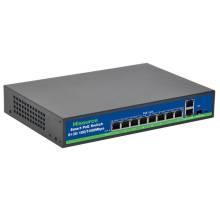 Switch 8 porte POE + 1 porta UPLINK -SFP Port Velocità 100/1000 Mbps