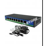 Switch 8 porte POE + 1 porta UPLINK Velocità 10/100Mbps