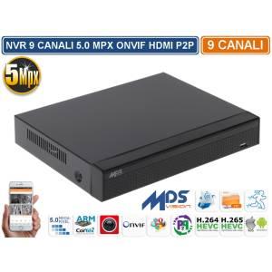 NVR 8 Canali 5.0 Megapixel ONVIF H.265 Linux HDMI P2P CLOUD DROPBOX