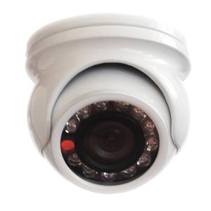 Telecamera mini dome bianca IR LED SONY day/night vandalproof